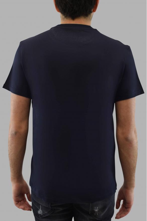 Men's designer t-shirt - Valentino blue t-shirt with red V logo