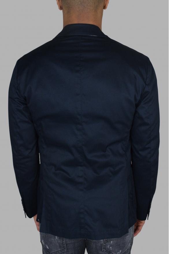 Men's luxury jacket - Blue Dolce & Gabbana jacket with openings