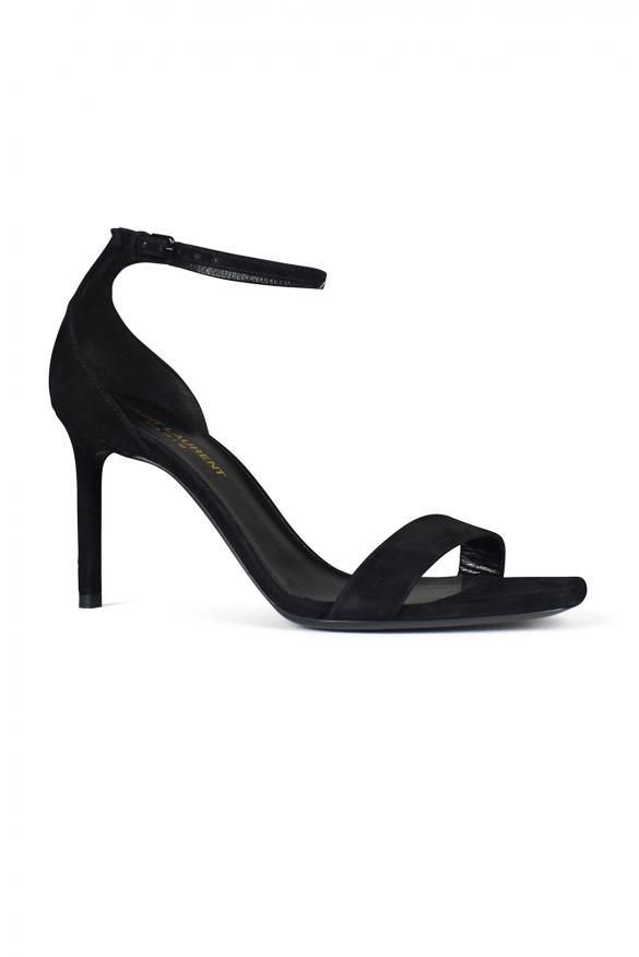 Women's luxury sandals - Saint Laurent Amber sandals in black suede