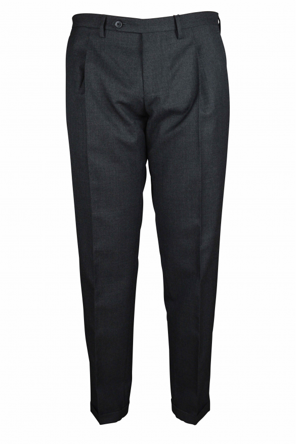Luxury trousers for men - Dolce & Gabbana gray trousers with hems