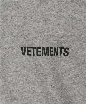 vetements logo front back t-shirt