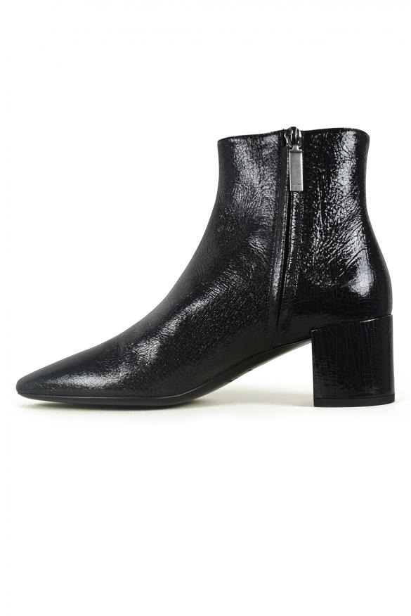 Women luxury shoes - Loulou 50 Saint Laurent black low ankle boots