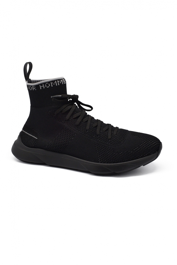 Luxury sneakers for men -  B21 Socks Dior sneakers in black and grey technical knit