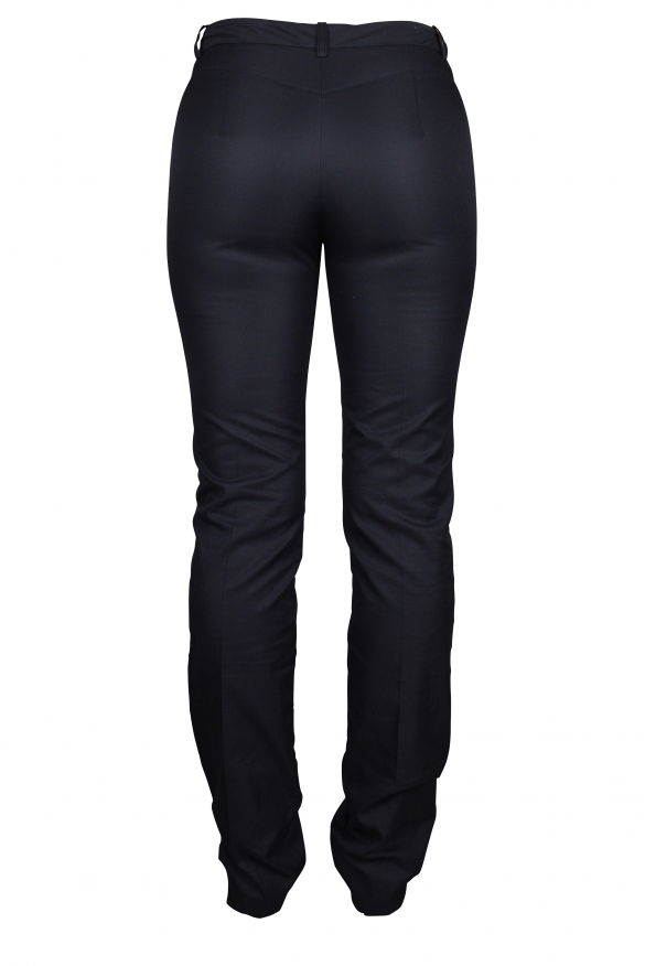 Luxury trousers for women - Balenciaga blue trousers with stitching details