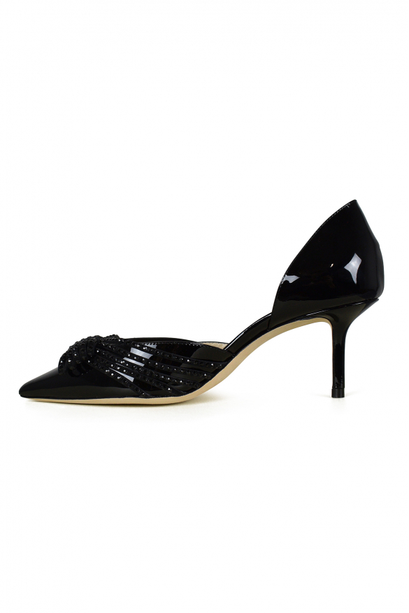 Luxury shoes for women - Jimmy Choo Kaitence 65 in black patent leather