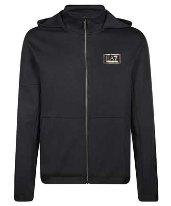 printed logo hoodie