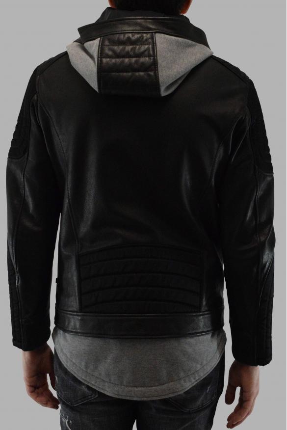 Men's designer jacket - Philipp Plein perfecto jacket in black leather