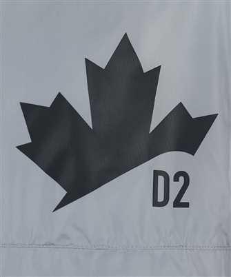 logo-print half zip windbreaker