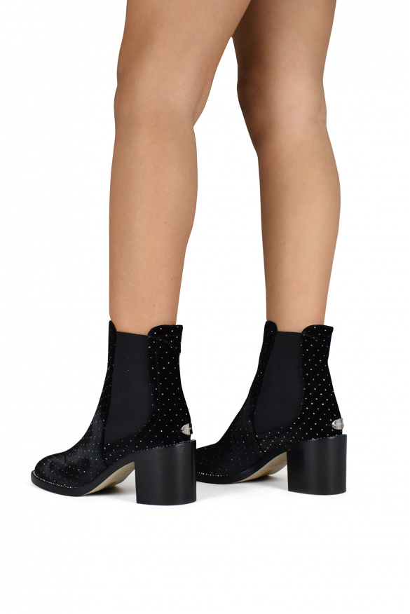 Luxury shoes for women - Jimmy Choo Merril boots in black velvet