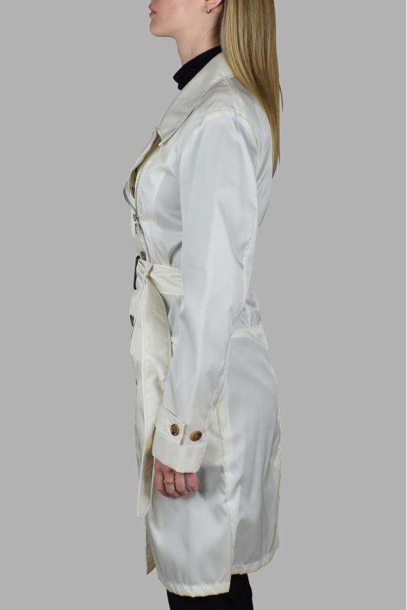 Women's luxury coat - Prada off-white nylon coat