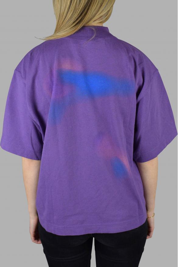Women's luxury T-Shirt - Palm Angels purple oversized t-shirt air