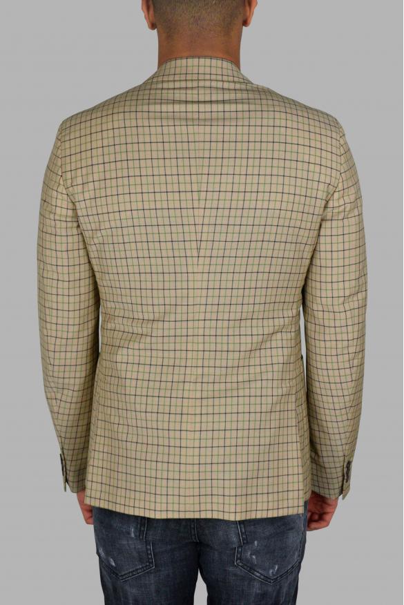 Men's luxury jacket - Prada beige jacket with checkered pattern