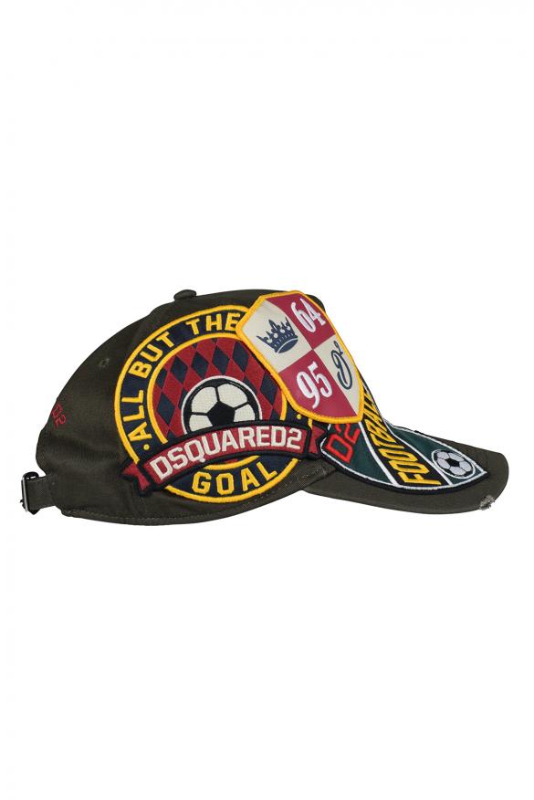 Men's luxury cap - Khaki Dsquared2 cap with logo patch