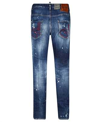 distressed effect jeans