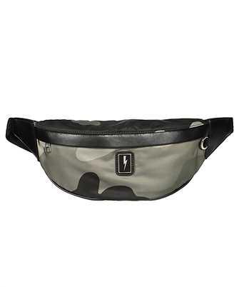 neil barrett camo print recycled polyester belt bag