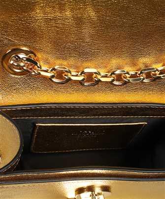 metallic M-logo shoulder bag