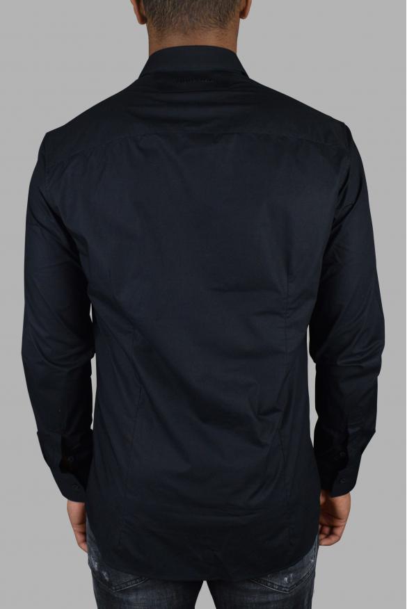 Luxury shirt for men - Philipp Plein black and yellow LS Statement shirt