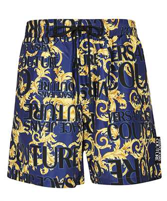 versace jeans couture logo baroque shorts