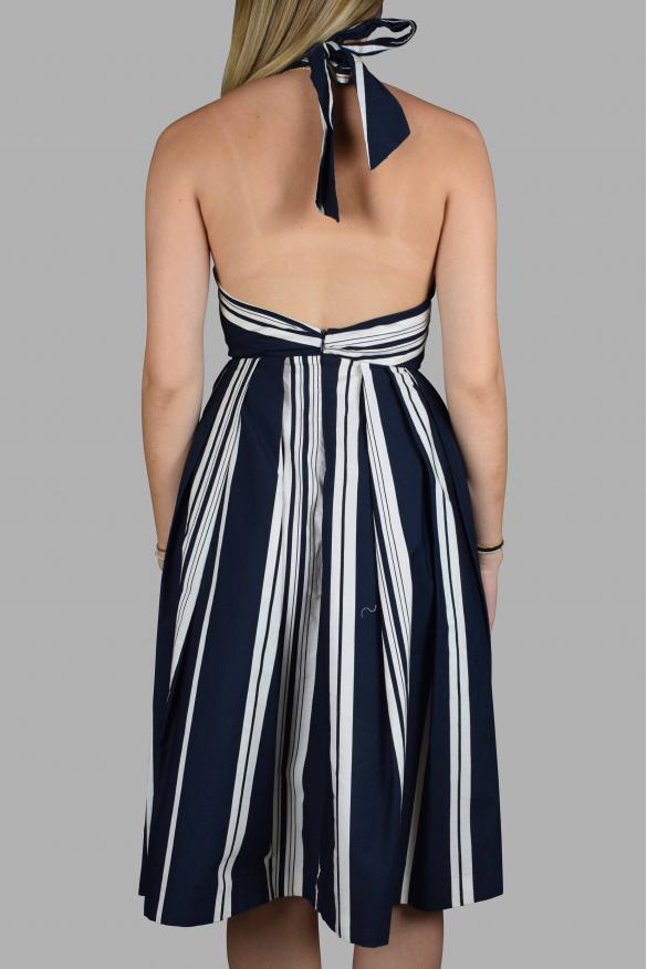 Luxury dress for women - Antonio Marras blue backless dress