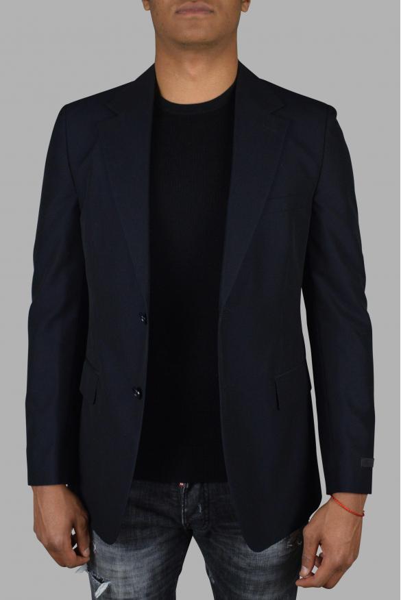 Men's luxury jacket - Prada blue suit jacket in wool and cotton