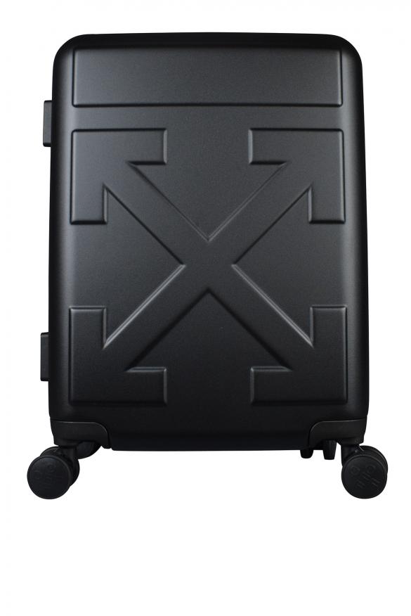 Luxury suitcase - Matt black Off-White suitcase