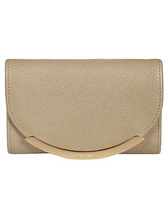 snap-button fastening leather wallet