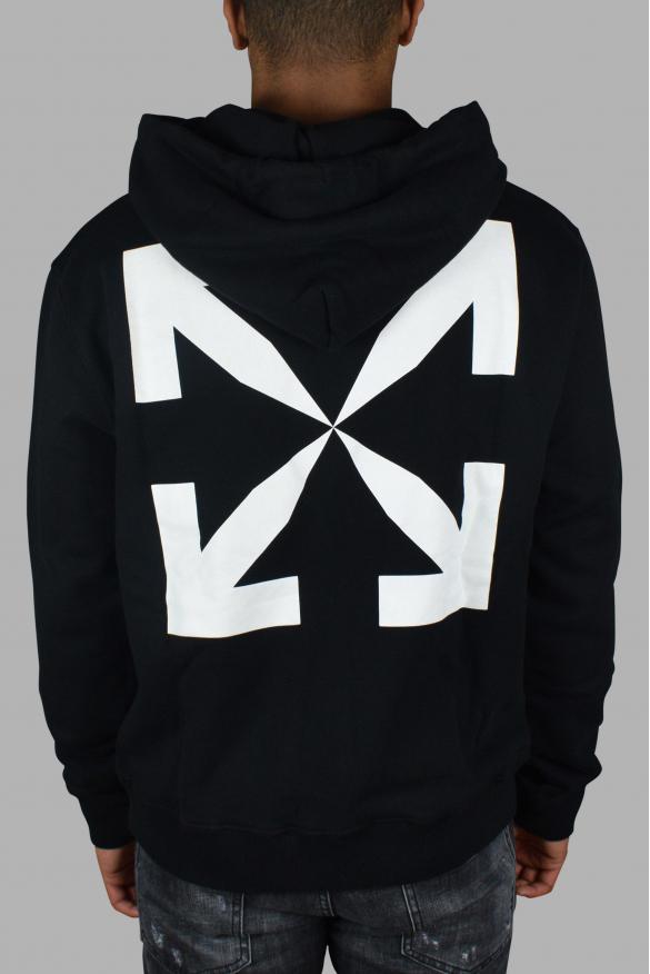 Luxury sweatshirt for men - Pascal Off-White black hoodie